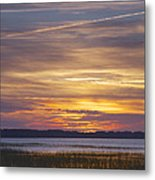Marsh Sunset Metal Print by Phill Doherty