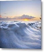 Marshmallow Tide Metal Print by Sean Davey