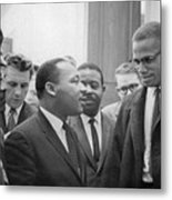Martin Luther King Jnr 1929-1968 And Malcolm X Malcolm Little - 1925-1965 Metal Print by Marion S Trikoskor