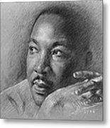 Martin Luther King Jr Metal Print by Ylli Haruni