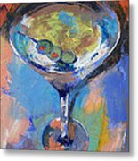 Martini Oil Painting Metal Print by Michael Creese