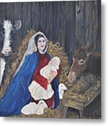 Mary And Baby Jesus Metal Print by Linda Clark