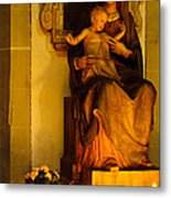 Mary And Baby Jesus Metal Print by Syed Aqueel