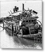 Mary D Hume Shipwreck - Rogue River Oregon Metal Print by Gary Whitton