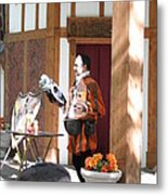 Maryland Renaissance Festival - Johnny Fox Sword Swallower - 121210 Metal Print by DC Photographer