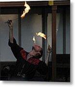 Maryland Renaissance Festival - Johnny Fox Sword Swallower - 1212102 Metal Print by DC Photographer