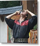 Maryland Renaissance Festival - Johnny Fox Sword Swallower - 121263 Metal Print by DC Photographer