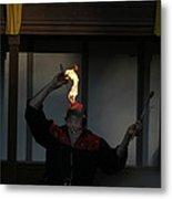 Maryland Renaissance Festival - Johnny Fox Sword Swallower - 121289 Metal Print by DC Photographer