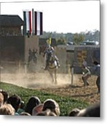 Maryland Renaissance Festival - Jousting And Sword Fighting - 1212174 Metal Print by DC Photographer