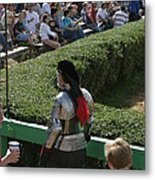 Maryland Renaissance Festival - Jousting And Sword Fighting - 1212198 Metal Print by DC Photographer