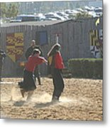 Maryland Renaissance Festival - Jousting And Sword Fighting - 121278 Metal Print by DC Photographer