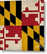 Maryland State Flag Metal Print by Pixel Chimp