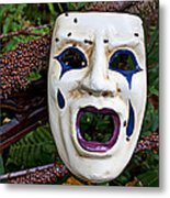 Mask And Ladybugs Metal Print by Garry Gay