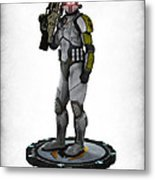 Mass Effect - Cerberus Soldier Metal Print by Frederico Borges