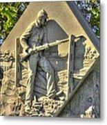 Massachusetts At Gettysburg 1st Mass. Volunteer Infantry Skirmishers Close 1 Steinwehr Ave Autumn Metal Print by Michael Mazaika