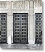 Massive Doors Metal Print by Olivier Le Queinec