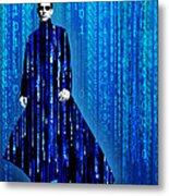 Matrix Neo Keanu Reeves Metal Print by Tony Rubino