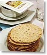 Matza And Haggada For Pesach Metal Print by Ilan Rosen