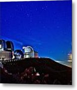 Mauna Kea At Moon Rise Metal Print by Bob Kinnison
