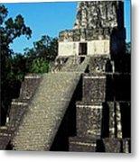 Mayan Ruins - Tikal Guatemala Metal Print by Juergen Weiss