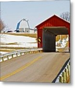 Mccolly Covered Bridge Metal Print by Jack R Perry