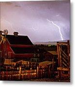 Mcintosh Farm Lightning Thunderstorm Metal Print by James BO  Insogna
