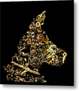 Mechanical - Dog Metal Print by Fran Riley