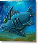 Mechanical Fish 4 Metal Print by David Kyte