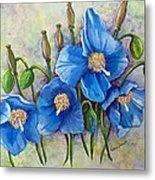 Meconopsis    Himalayan Blue Poppy Metal Print by Karin  Dawn Kelshall- Best