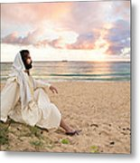 Meditation Of Christ Metal Print by Lois Colton