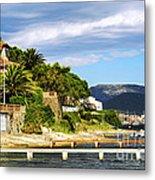 Mediterranean Coast Of French Riviera Metal Print by Elena Elisseeva