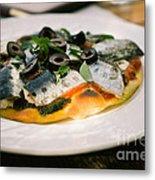 Mediterranean Sardine Pizza Metal Print by Dean Harte