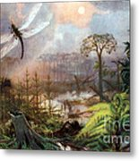 Meganeura In Upper Carboniferous Metal Print by Science Source