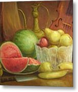 Melody With Fruits Metal Print by Michael Chesnakov