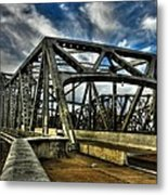 Memphis - Memphis And Arkansas Bridge 002 Metal Print by Lance Vaughn