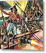Men Of The Jolly Roger Metal Print by Ron Embleton