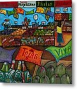 Mercado Mexicana Metal Print by Patti Schermerhorn