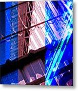Merged - Blue Barbed Metal Print by Jon Berry