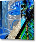 Merged - Painted Blues Metal Print by Jon Berry OsoPorto
