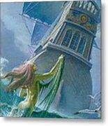 Mermaid Seen By One Of Henry Hudson's Crew Metal Print by Severino Baraldi