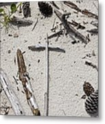 Message In The Sand Metal Print by Benanne Stiens