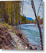 Methow River Coming From Mazama Metal Print by Omaste Witkowski