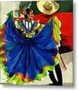 Mexican Dancers Metal Print by Elisabeta Hermann