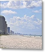 Mexico Beach Coastline Metal Print by Kenny Francis