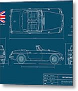 Mgb Mk.2 Roadster Metal Print by Douglas Switzer