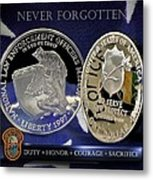 Miami Dade Police Memorial Metal Print by Gary Yost