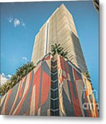 Miami Downtown Buildings - Miami - Florida Metal Print by Ian Monk