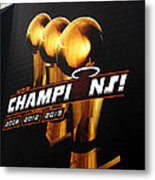 Miami Heat Aaa Championship Banner Metal Print by J Anthony