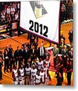 Miami Heat Championship Banner Metal Print by J Anthony