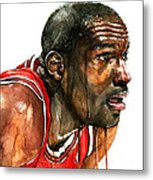 Michael Jordan Early Days Metal Print by Michael  Pattison